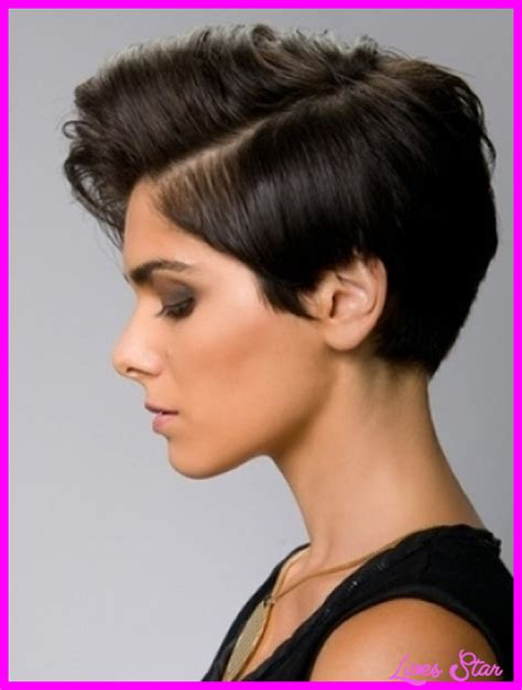short hairstyles long on one side short on other short sides long top haircut women livesstar com