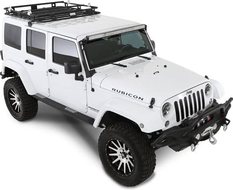 Jeep Wrangler Roof Racks Smittybilt 45454 Defender Roof Rack For 07 17 Jeep