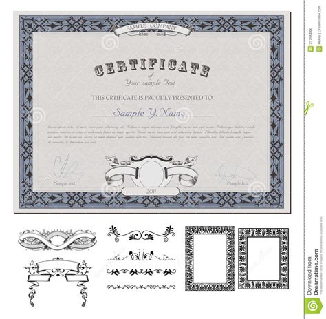 coupon certificate template certificate or coupon template royalty free stock photos