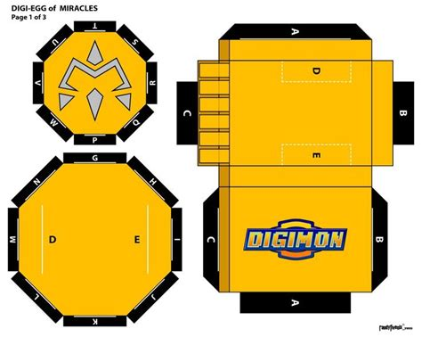 Digimon Papercraft - 48 best images about digimon papercraft on