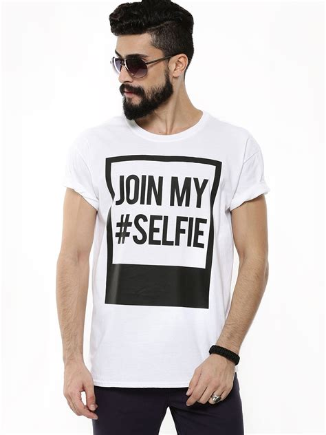 Tshirt This Is My Selfie buy new look join my selfie t shirt for s white t shirts in india