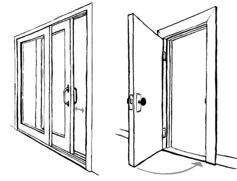 how to draw a sliding door in a floor plan the anatomy of doors drawing words writing pictures