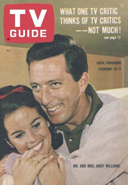 claudine longet tv shows tv guide february 15 1964 mr and mrs andy williams