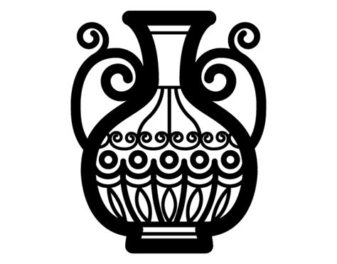 vaso greco da colorare disegno di vaso decorato da colorare acolore