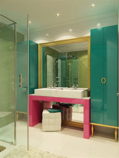 colorful bathroom interior design ideas