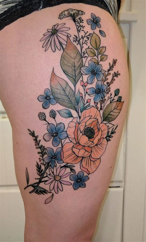 watercolor tattoo wildflowers wildflower watercolor www imgkid the image