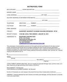 sealed bid form template bid sealed bid request for department