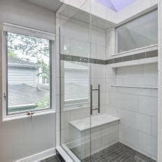 glass doors built in bench tiled showers with bench tile design ideas