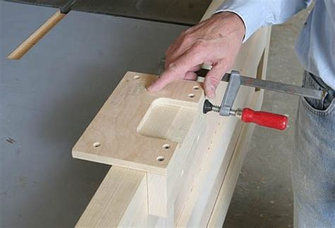 custom hinge mortising template fine homebuilding