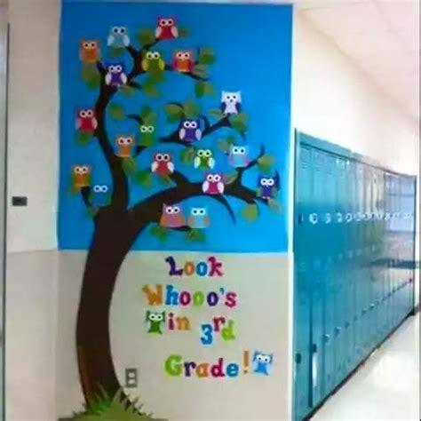 Patung Pajangan Burung Hantu Belajar Pintar Sekolah 10 desain dekorasi ruang kelas menarik yang membangkitkan