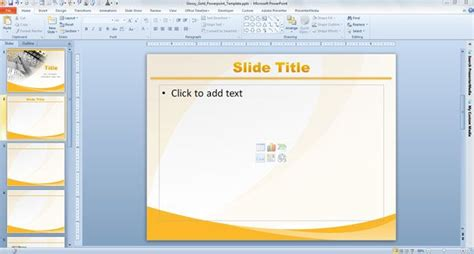 template slide powerpoint glossy gold powerpoint template