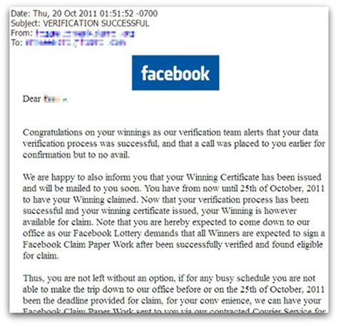Sweepstakes Scam - 5 tips to catch facebook scam before it infects your profile