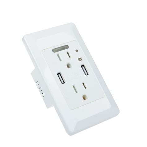 Usbx Charger Usb Power Speed 2 4 A 4 2a usb outlet panel faceplate fast speed wall socket charger w auto nighligt ebay