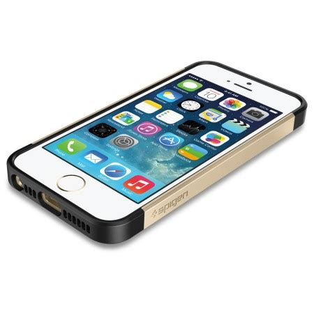 Spigen Type Slim Armor For Iphone 5g Gold spigen slim armor s for iphone 5s 5 chagne gold