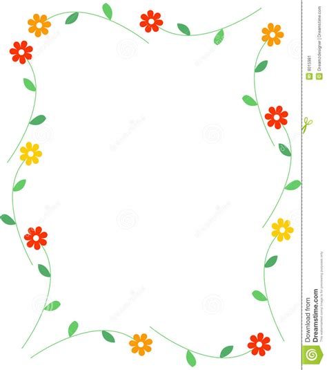 Mother S Day Flower by Spring Flowers Border Stock Vector Image Of Background