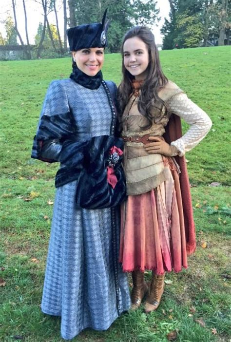 bailee madison on once upon a time bailee madison and lana parrilla behind the scenes of once