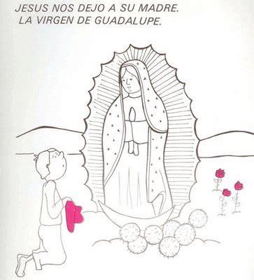 Dibujos Para Pintar De Nuestra Se 241 Ora De Guadalupe Imagen De La Virgen De Guadalupe Para Colorear