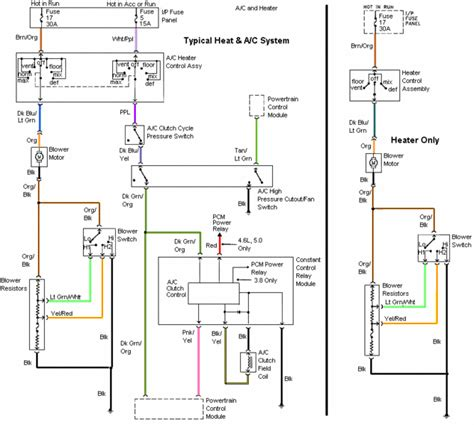 ac wairing 94 98 mustang air conditioning wiring diagram