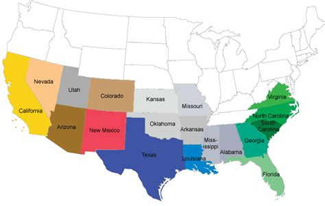 united states map with cities in spanish u s mission trail the mission trail today the