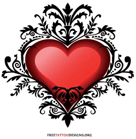 love heart design tattoos regarding ideas 187 a to z