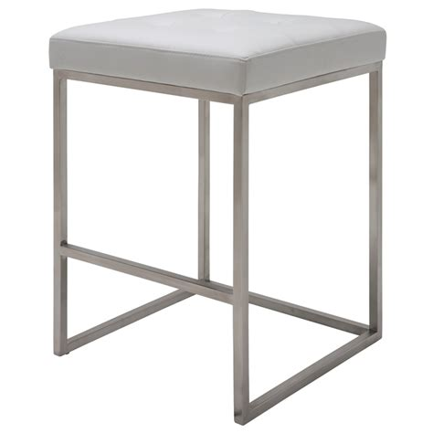 Nuevo Chi Counter Stool by Nuevo White Chi Counter Stool Hgpa107