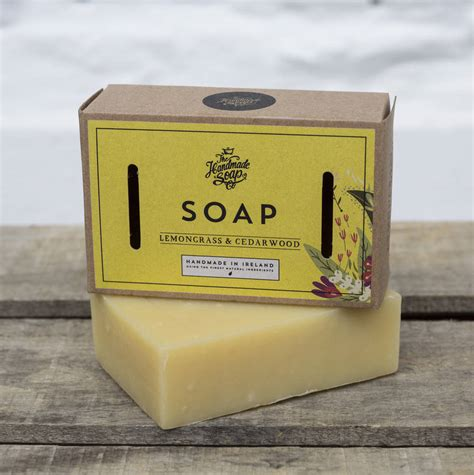 The Handmade Soap Company - cedarwood and lemongrass soap by the handmade soap company