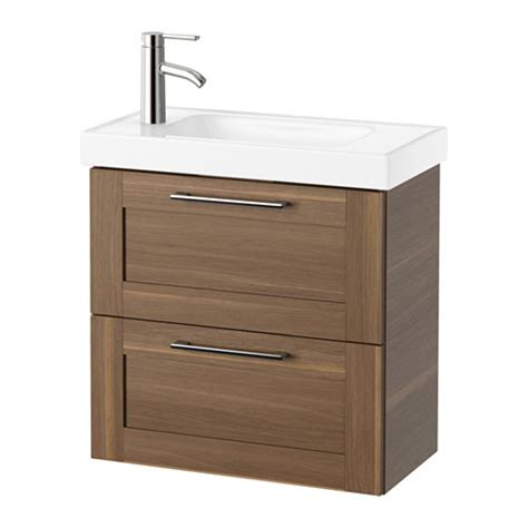 godmorgon hagaviken sink cabinet with 2 drawers walnut
