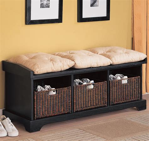 entryway benches with baskets awesome style entryway bench with baskets stabbedinback