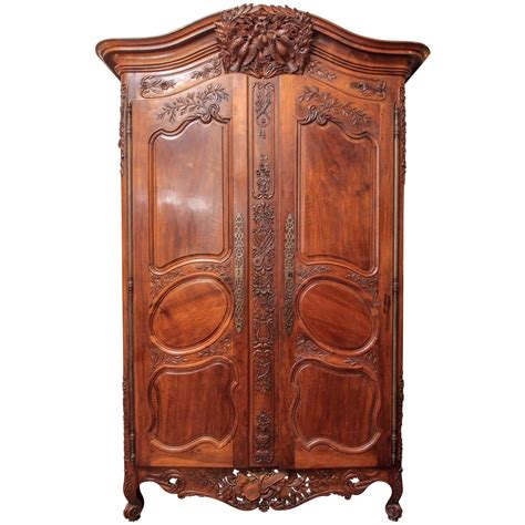 louis armoire louis xv walnut armoire du marriage for sale at 1stdibs