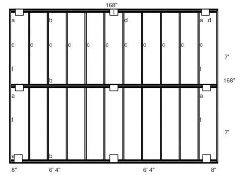 Freestanding Deck Plans by 14 X 14 Freestanding Deck Plans Needed Doityourself