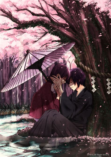anime couple under a tree 卡通樱花树怎么画 日本樱花树简笔画 彩铅樱花树画法 丙烯怎么画樱花树 樱花怎么画简单好看