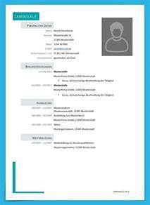 Word Vorlage Lebenslauf Mit Bild Kostenlose Lebenslauf Muster Und Vorlagen Zum