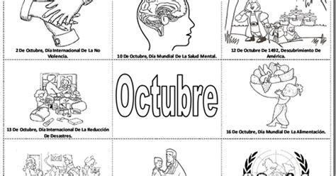imagenes octubre negro pinto dibujos fechas importantes de octubre para colorear