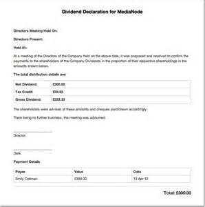the dividend voucher freeagent