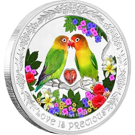 Gold Coin Lovebird is precious silver coin lovebirds new zealand mint