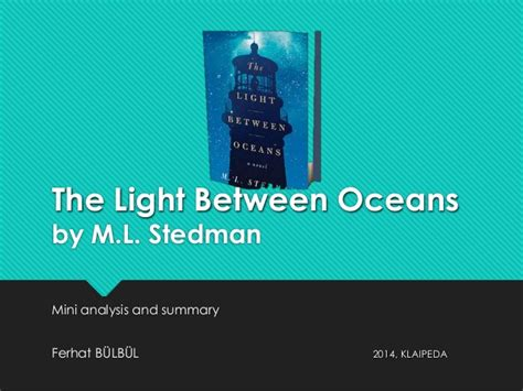 the light between oceans synopsis the light between oceans by m l stedman