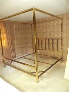 Canopy Brass Beds King Size Brass Four Poster Canopy Bed By Pace At 1stdibs