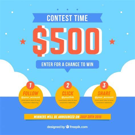 Social Media Contest Template Vector Free Download Social Media Contest Template