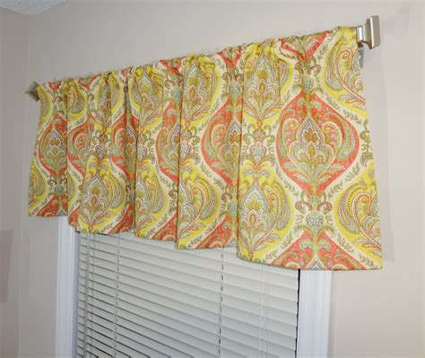 curtain topper sale curtain valance topper window valance 52x15 yellow coral