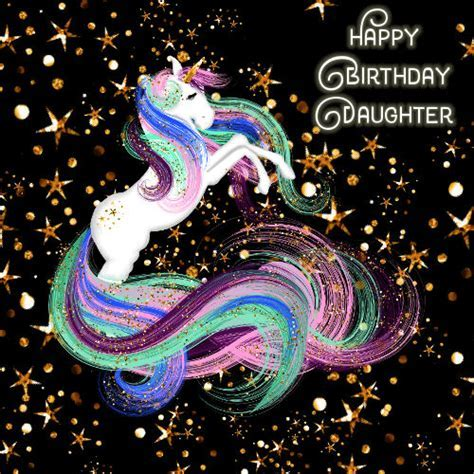 Daughter Birthday, Sparkling Unicorn. Free For Son
