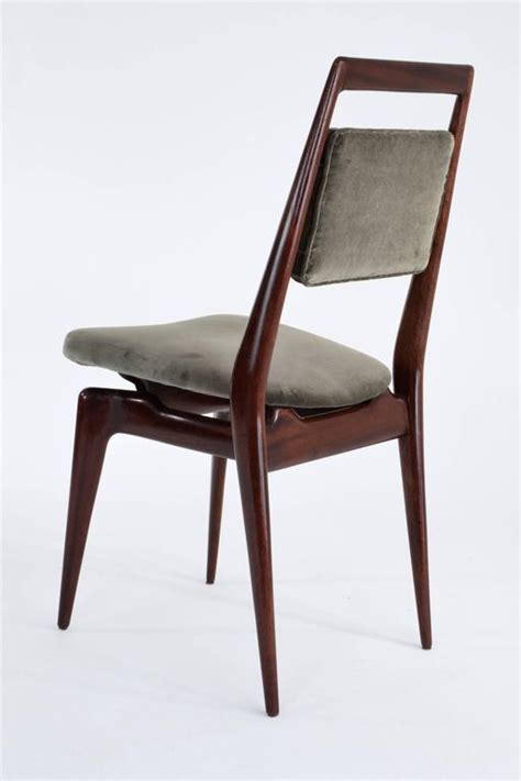 Velvet Dining Chairs Sale Italian Velvet Dining Chairs Set Of Six 1950 S For Sale At 1stdibs