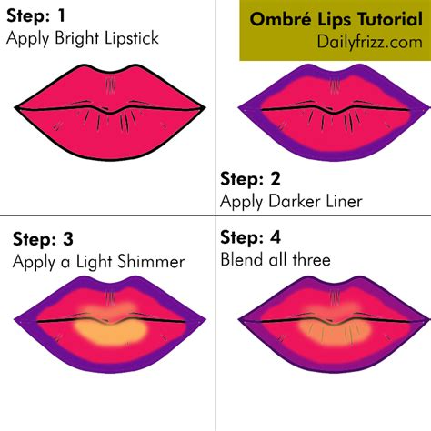how to do ombre step by step trend alert how to ombr 233 lips the daily frizz