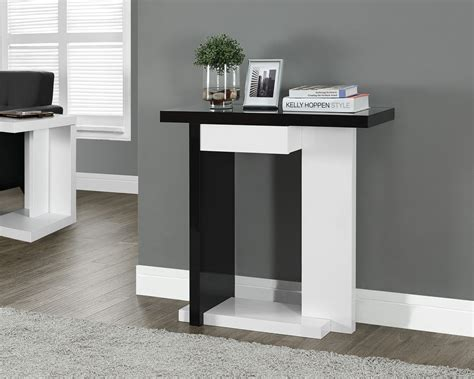 hall accent tables glossy white black 32 quot hall console accent table from
