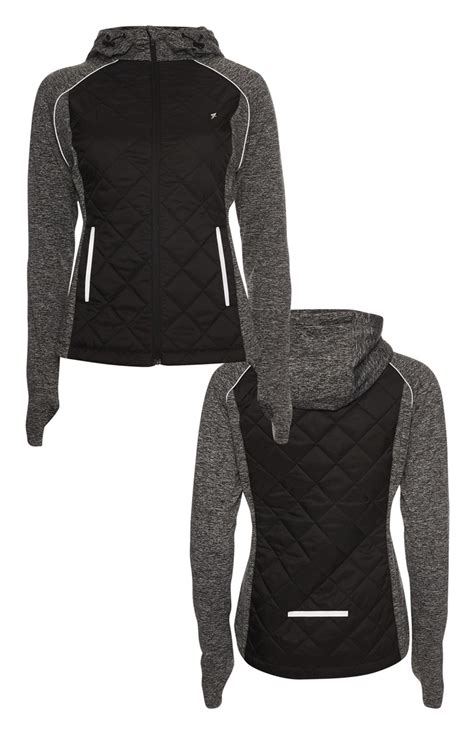 Primark Quilted Jacket by Ladies Genuine Grey Marl Quilted Workout Jacket Is