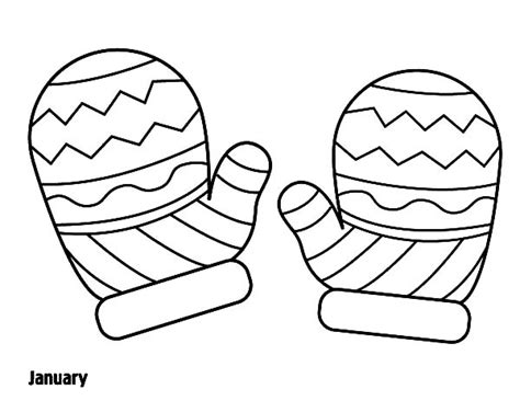 coloring pages of mittens and hats mitten coloring page printable coloring image