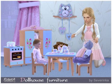 sims 4 dollhouse sims by severinka dollhouse furniture set sims 4 downloads