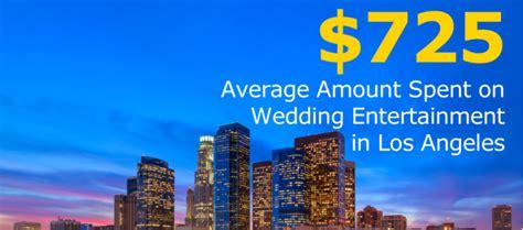 average cost wedding photographer los angeles los angeles wedding entertainment costs