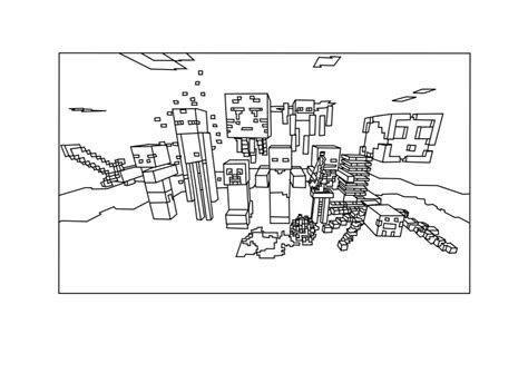 detailed minecraft coloring pages free coloring pages of minecraft mobs