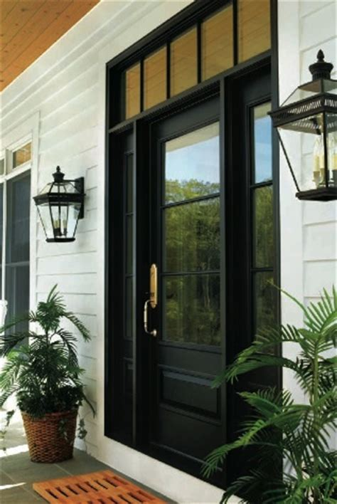 paint the front door black stained wood ceiling gray
