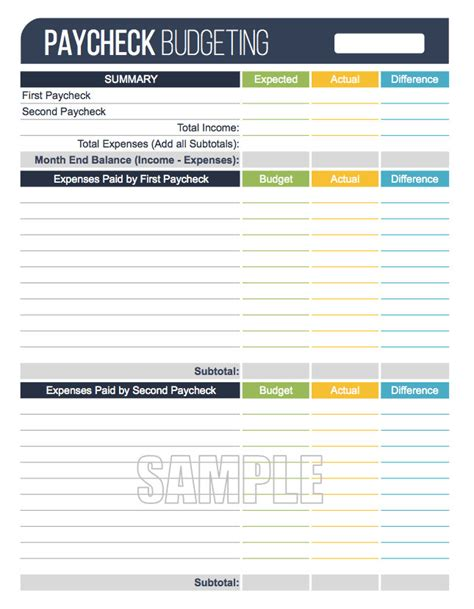 paycheck budget template paycheck budgeting worksheet editable personal finance